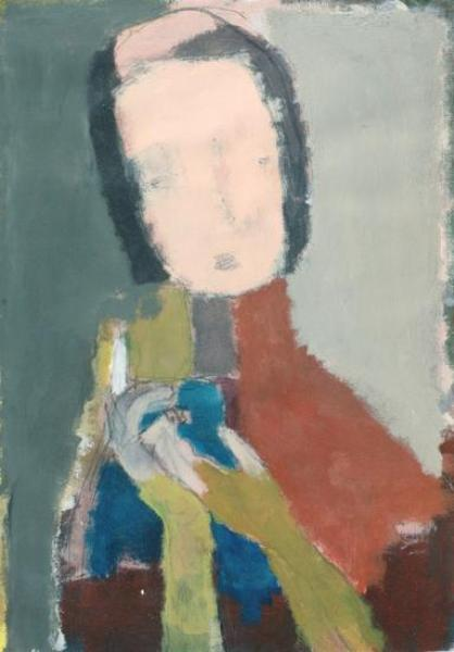 kopf II, 2005, 50x70 cm, acryl, karton